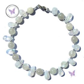 Moonstone Drop Bracelet